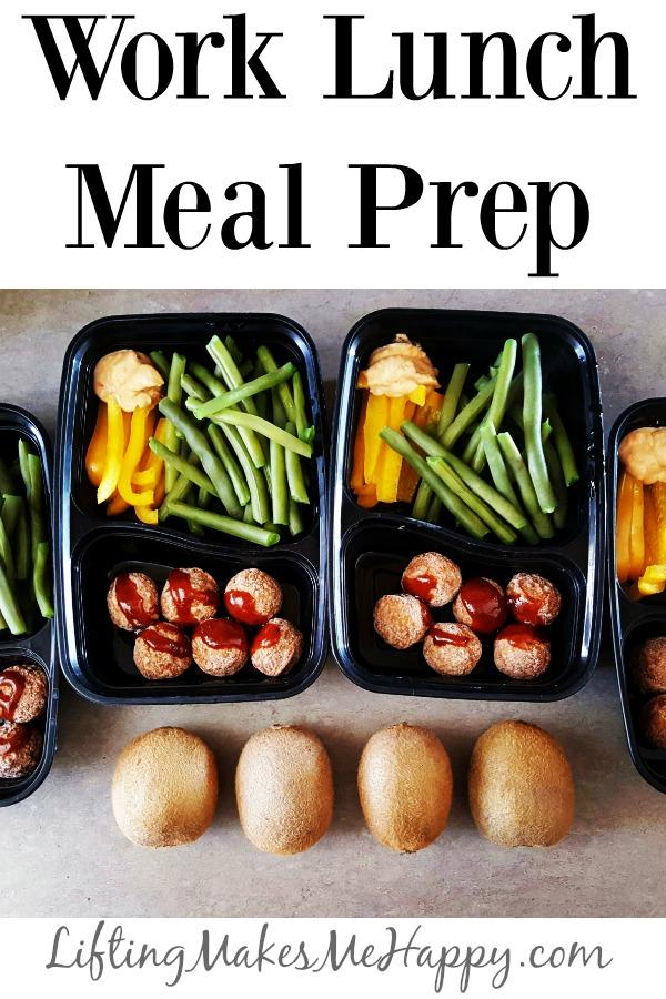 Work Lunch Meal Prep via LiftingMakesMeHappy.com