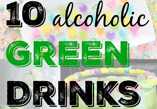 10 Alcoholic Green Drinks - via LiftingMakesMeHappy.com