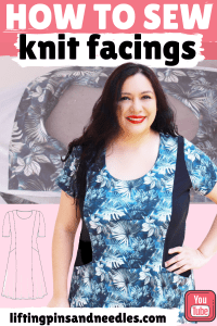 The Alana dress is an easy to sew knit dress with princess seams on the front and back. I am sharing a step-by-step sewing tutorial all about knit princess seams that will help you if you are newer to sewing. This post also contains a pattern review and other sewing aspects of this beautiful sewing PDF pattern from Sinclair patterns. #sinclairpatterns #alanadress #sewingprincessseams