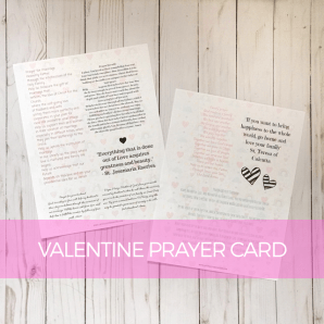 Valentine prayer card