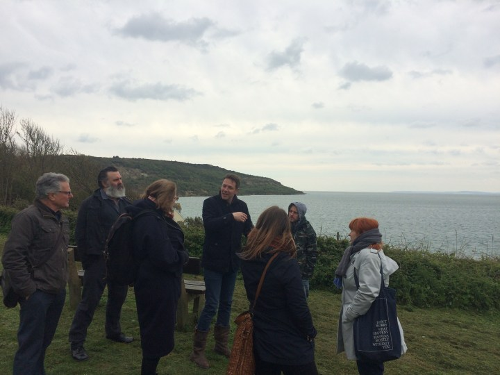 Members of the Selection Panel meet Steve Blamire at Totland