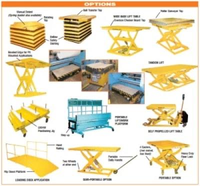 Econolift lift table options