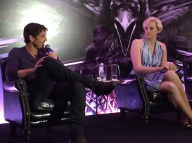 Pedro Pascal (Oberyn Martell) e Gwendoline Christie (Brienne de Tarth)