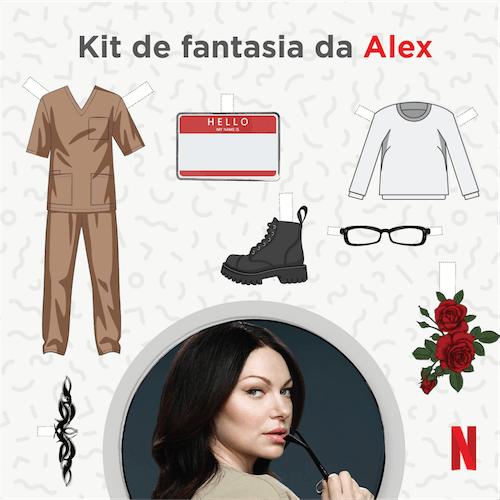 Kit de Fantasia da Alex - OITNB