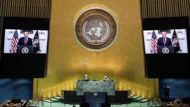 """صورة هل إعادة انتخاب الجمهوري ميزان القوة ؟ دعا ترامب الأمم المتحدة إلى محاسبة الصين على """"إصابة العالم"""" بـالفيروس"""