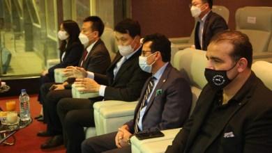 صورة وزير الرياضة يشهد المباراة الافتتاحية للمنتخب الوطني في الدورة الودية الدولية الأوليمبية