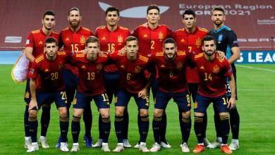 صورة الفريق الإسباني الساحق 6-0  فوزًا تاريخيًا على ألمانيا ليصل إلى النهائي الرباعي