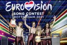 صورة فازت إيطاليا بالقمة في مهرجان Eurovision أمام فرنسا الثانية وسويسرا الثالثة وإسبانيا في المركز الاربعة وعشرين