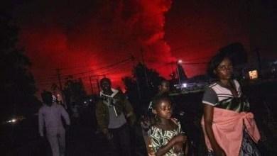 صورة وضع خطير تعيشه الكونغو بسبب فوهة بركان