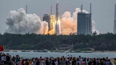 صورة أخيرًا حطام صاروخ صيني غير خاضع للرقابة يسقط دون أذى في المحيط الهندي