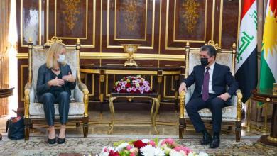 صورة رئيس حكومة كردستان يستقبل رئيس بعثة الاتحاد الأوروبى لمراقبة الانتخابات العراقية