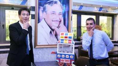 """صورة سفير كوريا الجنوبية بالقاهرة يتناول """"الكشرى"""" فى مطعم """"أبو طارق"""""""