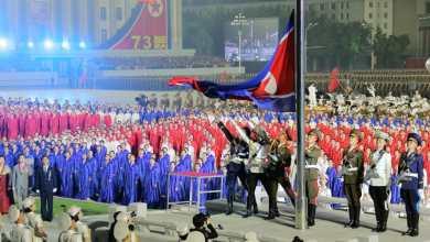 صورة زعيم كوريا الديمقراطية يحتفل بالذكرى الثالثة والسبعين لتأسيس الجمهورية