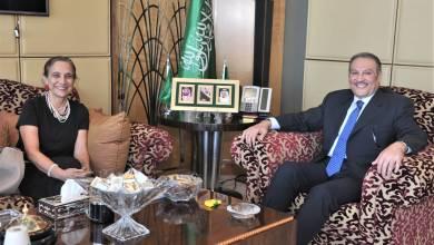 صورة سفير السعودية بالقاهرة يبحث مع نظيرته الكولومبية العلاقات الثنائية وسبل تطويرها