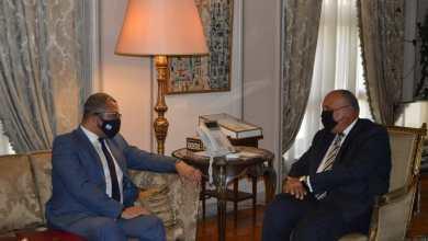 صورة شكرى يستقبل وزير الدولة البريطانى للشرق الأوسط وشمال إفريقيا