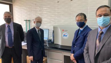 صورة سفير اليابان بالقاهرة يحضر حفل تسليم أجهزة طبية يابانية لمكافحة فيروس كورونا بجامعة قناة السويس