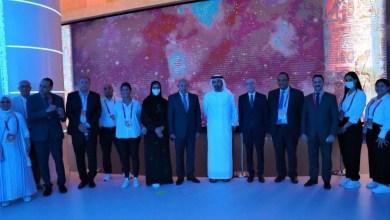 صورة وزير الخارجية الإماراتى يزور الجناح المصرى بإكسبو 2020 دبى