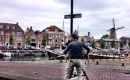 Cameraman in Hellevoetsluis