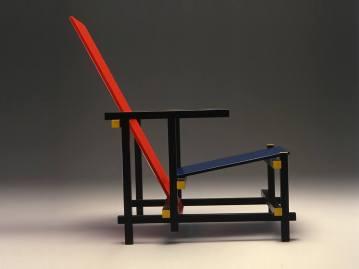 Rood Blauwe stoel, Gerrit Rietveld, 1918