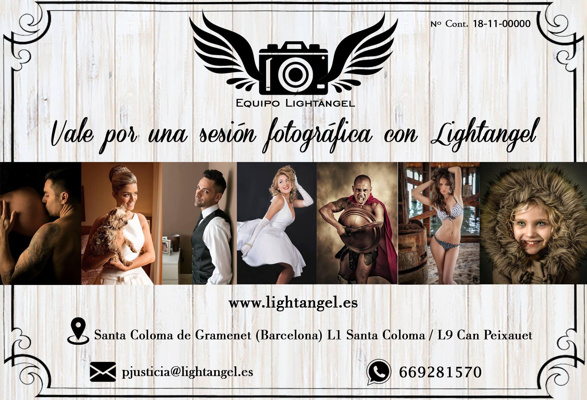 Vale por una sesion fotografica con lightangel santa coloma de gramenet barcelona - Regala una sesión fotográfica -