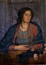 Portrait de la femme de l'artiste, (1916)