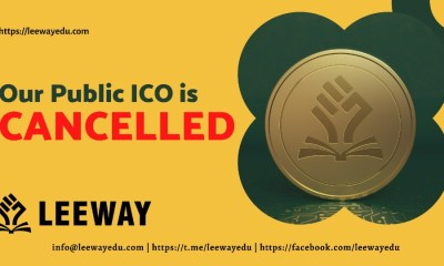 Leeway Edu Announces the Cancellation of Leeway Public ICO Launch and Burning of 3,500,000 ICO Tokens