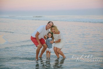 Sunset Beach Family Portrait Photography