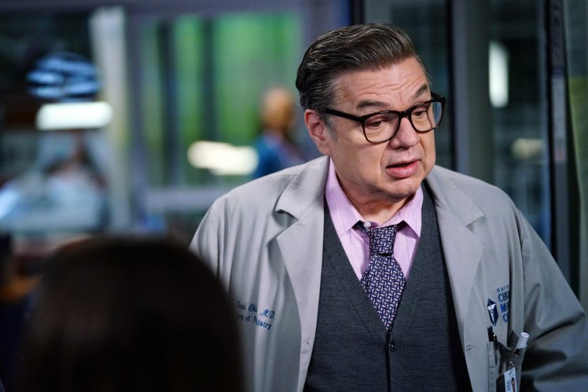 """CHICAGO MED -- """"So Many Things We've Kept Buried"""" Episode 610 -- Pictured: Oliver Platt as Daniel Charles -- (Photo by: Elizabeth Sisson/NBC)"""