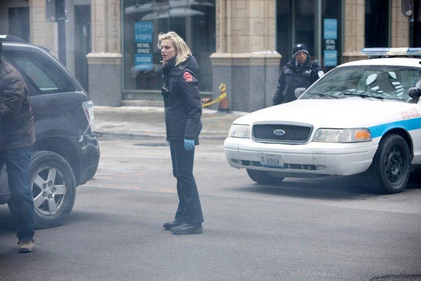 CHICAGO FIRE -- Episode 909 -- Pictured: Kara Killmer as Sylvie Brett -- (Photo by: Adrian S. Burrows Sr./NBC)