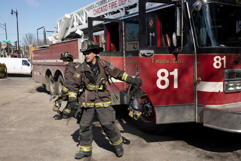 """CHICAGO FIRE -- """"One Crazy Shift"""" Episode 910 -- Pictured: Jesse Spencer as Matthew Casey -- (Photo by: Adrian S. Burrows Sr./NBC)"""