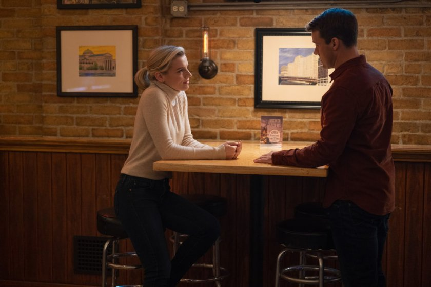"""CHICAGO FIRE -- """"A Couple Hundred Degrees"""" Episode 911 -- Pictured: (l-r) Kara Killmer as Sylvie Brett, Jesse Spencer as Matthew Casey -- (Photo by: Adrian S. Burrows Sr./NBC)"""