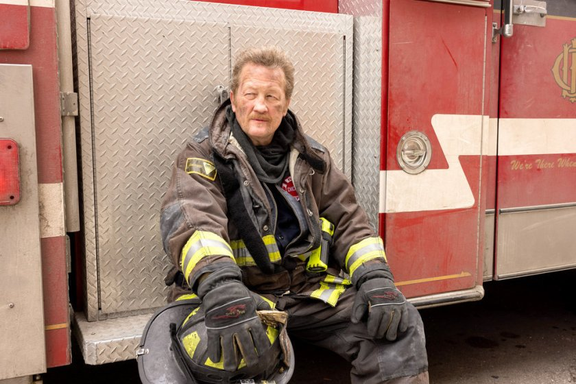 """CHICAGO FIRE -- """"Natural Born Firefighter"""" Episode 912 -- Pictured: Christian Stolte as Randall """"Mouch"""" McHolland -- (Photo by: Adrian S. Burrows Sr./NBC)"""