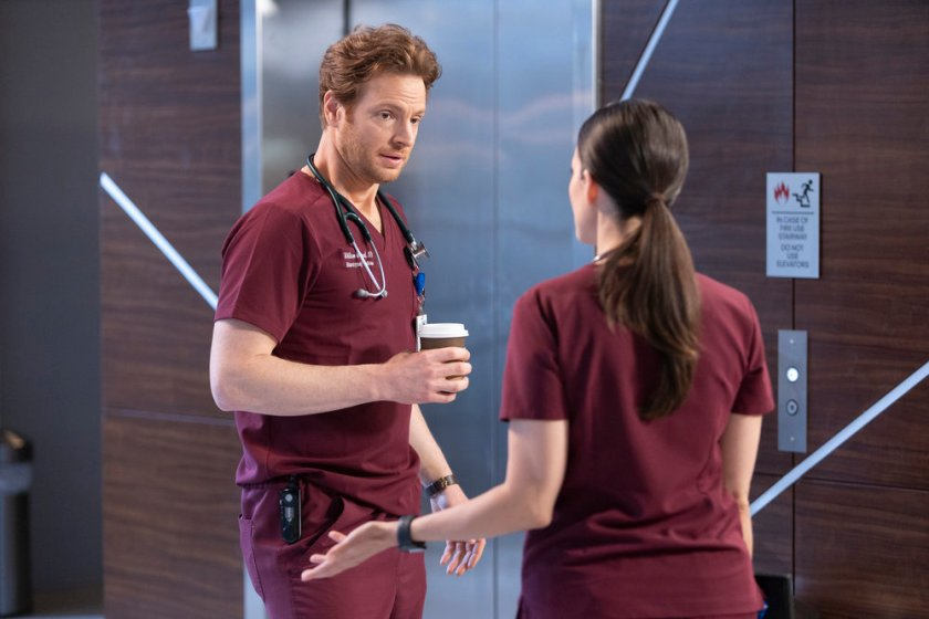 CHICAGO MED -- Episode 613 -- Pictured: Nick Gehlfuss as Dr. Will Halstead -- (Photo by: Adrian S Burrows Sr./NBC)