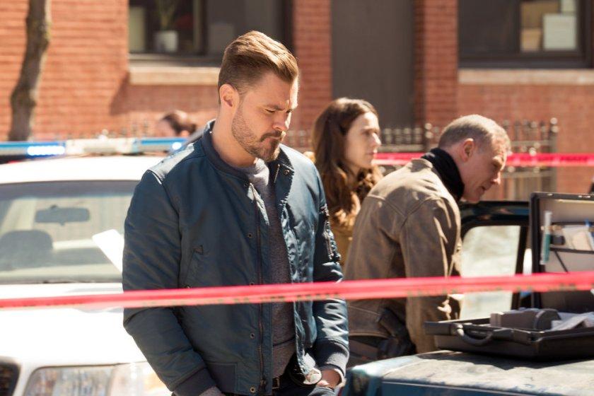 "CHICAGO P.D. -- ""Trouble Dolls"" Episode 813 -- Pictured: (l-r) Patrick John Flueger as Adam Ruzek, Marina Squerciati as Kim Burgess, Jason Beghe as Hank Voight -- (Photo by: Lori Allen/NBC)"