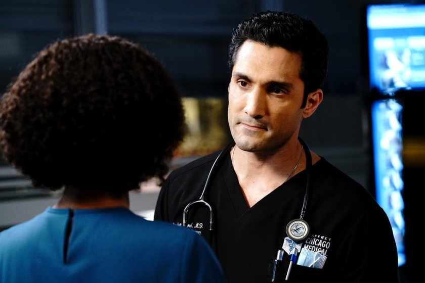 """CHICAGO MED -- """"Stories, Secrets, Half Truth and Lies"""" Episode 615 -- Pictured: Dominic Rains as Crockett Marcel -- (Photo by: Elizabeth Sisson/NBC)"""