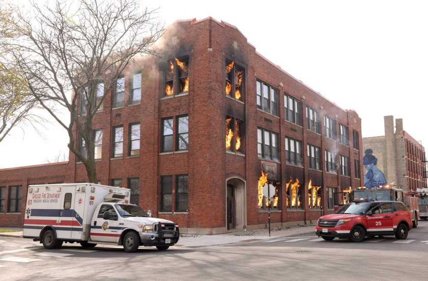 """CHICAGO FIRE -- """"What Comes Next"""" Episode 914 -- Pictured: Scene from Chicago Fire -- (Photo by: Adrian S. Burrows Sr./NBC)"""
