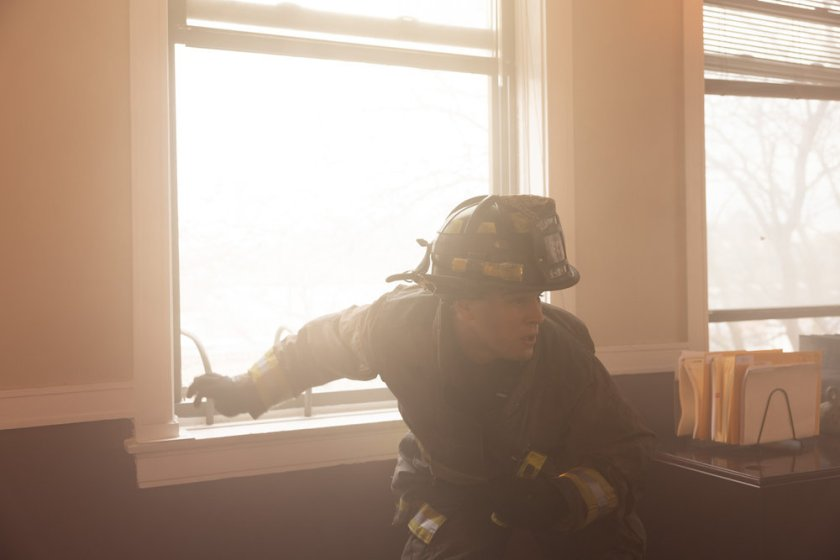 """CHICAGO FIRE -- """"What Comes Next"""" Episode 914 -- Pictured: Alberto Rosende as Blake Gallo -- (Photo by: Adrian S. Burrows Sr./NBC)"""