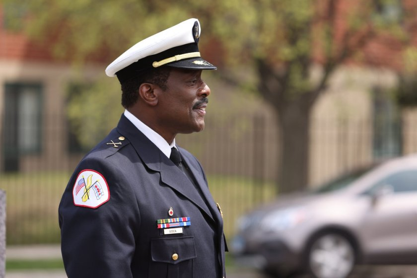 """CHICAGO FIRE -- """"A White Knuckle Panic"""" Episode 915 -- Pictured: Eamonn Walker as Wallace Boden -- (Photo by: Adrian S. Burrows Sr./NBC)"""
