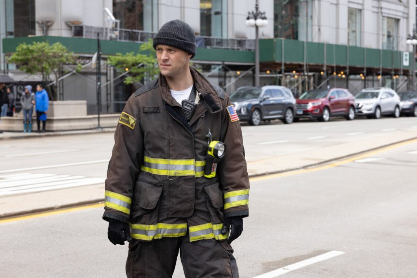 """CHICAGO FIRE -- """"No Survivors"""" Episode 916 -- Pictured: Jesse Spencer as Matthew Casey -- (Photo by: Adrian S. Burrows Sr./NBC)"""