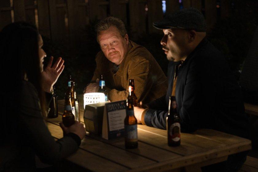 "CHICAGO FIRE -- ""No Survivors"" Episode 916 -- Pictured: (l-r) Christian Stolte as Randall ""Mouch"" McHolland, Joe Minoso as Joe Cruz -- (Photo by: Adrian S. Burrows Sr./NBC)"