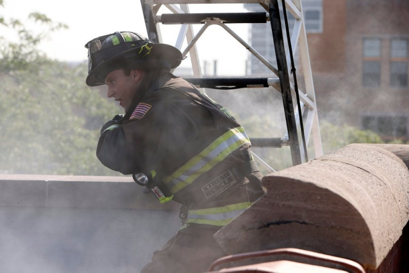 """CHICAGO FIRE -- """"Mayday"""" Episode 1001 -- Pictured: Jesse Spencer as Matthew Casey -- (Photo by: Adrian S. Burrows Sr./NBC)"""