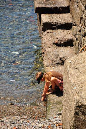 Girl in Riomaggiore