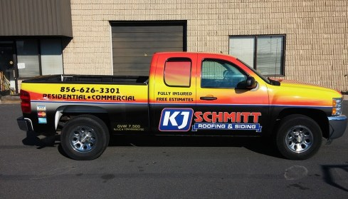 contractor truck lettering in Mt. Propsect IL
