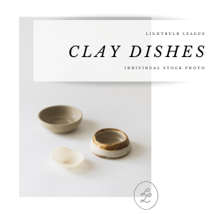 clay dishes stock photography