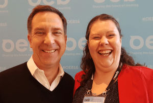Donald H Taylor and Jo Cook at Online Educa Berlin 2016