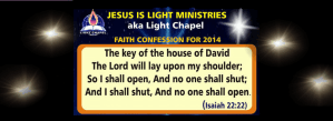 Faith Confessions for the year