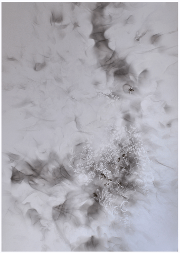 Ghosts - Smoke and Watercolour on Paper - 56x76cm - 2014