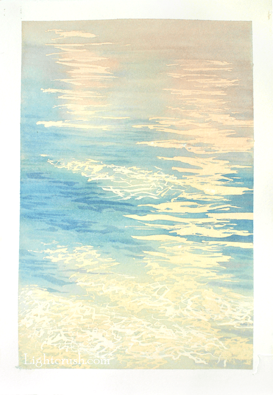Northern Water 1 - Watercolour on Paper - 29x28.5cm - 2015