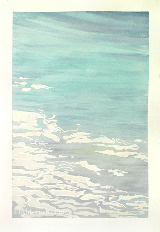 Northern Water 6 - Watercolour on Paper - 29x28.5cm - 2015