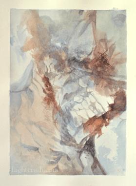 Postcard Rock 1 - Watercolour on paper - 14x19cm - 2015